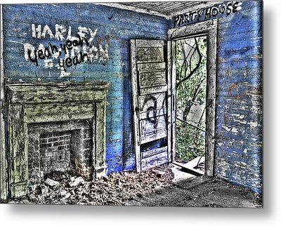 Party House Metal Print