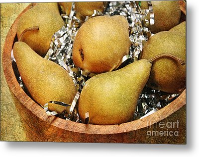 Party Pears Metal Print by Andee Design