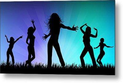 Party People Metal Print