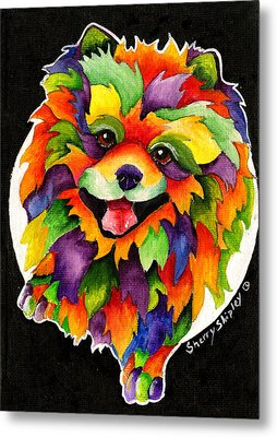 Party Pom Metal Print