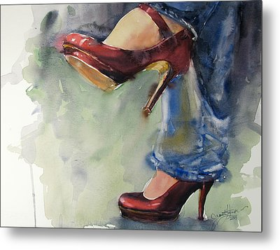 Party Shoes Metal Print by Judith Levins