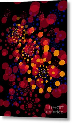 Party Time Abstract Painting Metal Print by Claudia Ellis