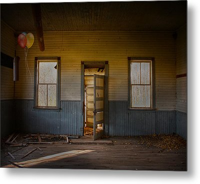 Partys Over  Metal Print by Empty Wall