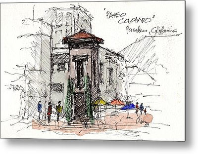 Metal Print featuring the mixed media Paseo Colorado by Tim Oliver