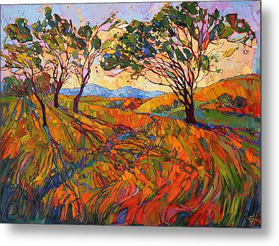 Metal Print featuring the painting Paso Mosaic by Erin Hanson