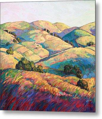 Pasoscapes Diptych Left Panel Metal Print by Erin Hanson