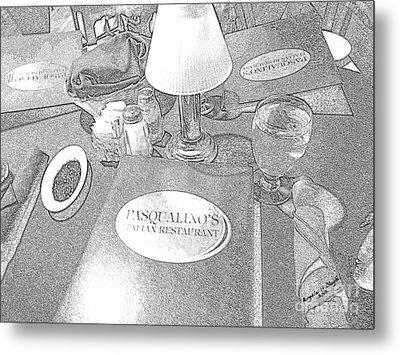 Metal Print featuring the digital art Pasqualino's Resturant Setup by Angelia Hodges Clay