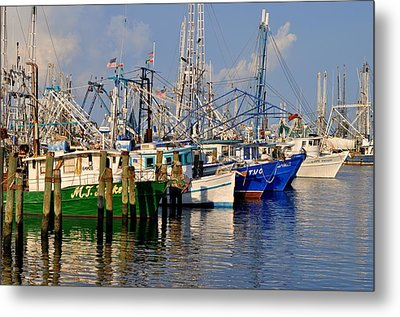 Pass Christian Harbor Metal Print by Charlotte Schafer