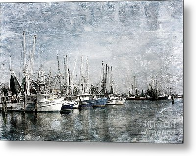 Pass Christian Harbor Metal Print by Joan McCool