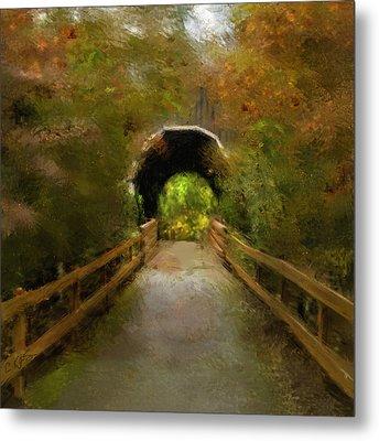 Pass Creek Bridge Metal Print by Dale Stillman