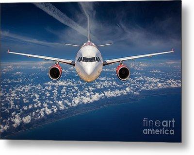 Passenger Airliner  Metal Print by Anek Suwannaphoom