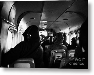 Passengers On Board Dehaviland Twin Otter Light Aircraft Sightseeing Flight To Grand Canyon Metal Print by Joe Fox