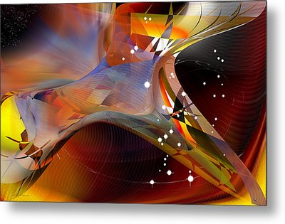Passing Orion - Constellation Stars Metal Print