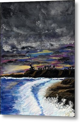 Metal Print featuring the painting Passing Storm by Gary Brandes
