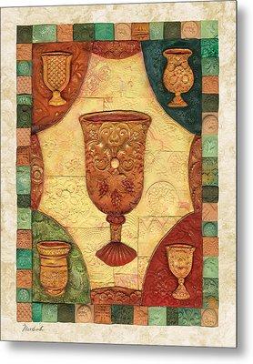 Passover Cups - Mosaic Metal Print by Michoel Muchnik