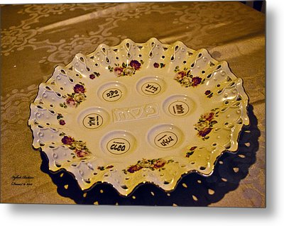 Passover Seder Plate2 Metal Print by Itzhak Richter