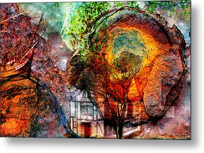 Past Or Future? Metal Print by Ally  White