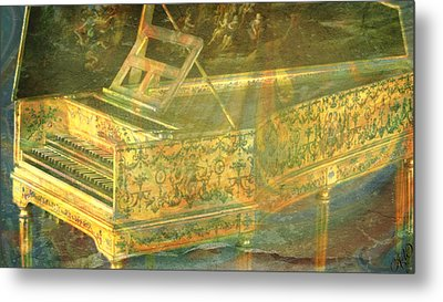 Metal Print featuring the mixed media Past To Present by Ally  White