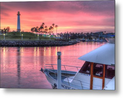 Pastel Colored Sunset Metal Print by Heidi Smith