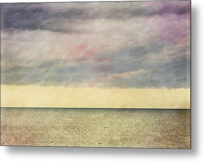 Pastel Sea - Textured Metal Print
