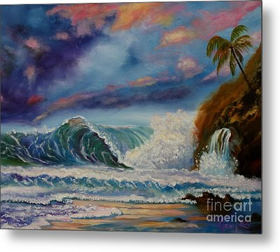 Metal Print featuring the painting Pastel Sunset by Jenny Lee