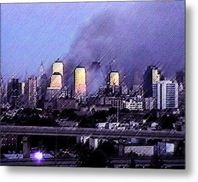 Pastel Sunset On Ground Zero Metal Print
