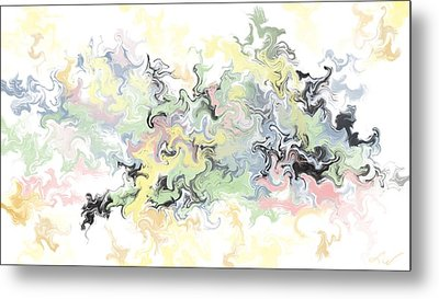 Pastels Gone Mad Metal Print