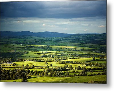Pastoral Fields, Near Clonea, County Metal Print by Panoramic Images