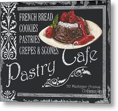 Pastry Cafe Metal Print