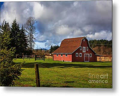 Metal Print featuring the photograph Pasture For Rent by Jean OKeeffe Macro Abundance Art