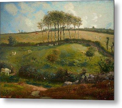 Pasture Near Cherbourg Metal Print by Jean-Francois Millet