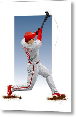 Pat The Bat Burrell Metal Print