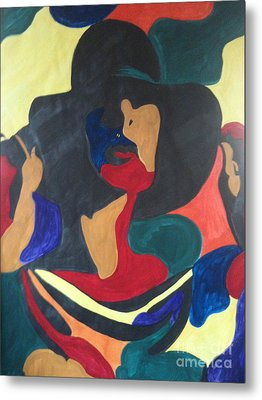 Metal Print featuring the painting Patchwork Velvet by Denise Tomasura