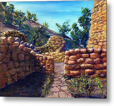 Metal Print featuring the painting Path At Old Mission by Lenora  De Lude