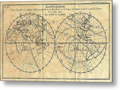Path Of The 1761 Transit Of Venus Metal Print