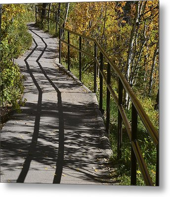 Path Shadow Metal Print
