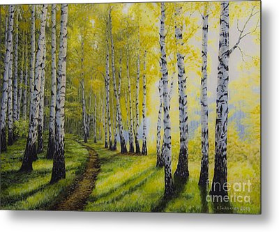 Path To Autumn Metal Print