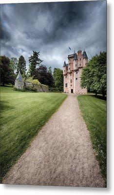 Path To Craigievar Castle Metal Print by Dave Bowman