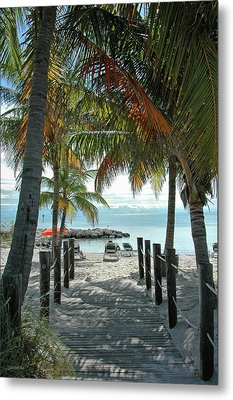 Path To Smathers Beach - Key West Metal Print