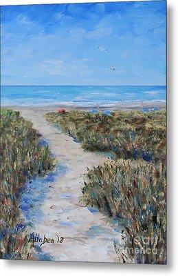 Path To The Beach Metal Print by Stanton Allaben