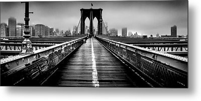 Path To The Big Apple Metal Print by Az Jackson