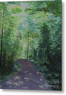 Path To The River Metal Print by Martin Howard