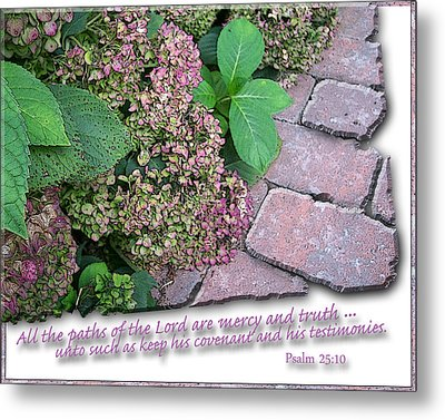 Paths Of The Lord Metal Print by Larry Bishop