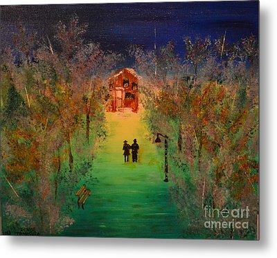 Metal Print featuring the painting Pathway Home by Denise Tomasura