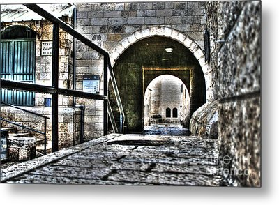 Metal Print featuring the photograph Pathway Through Old Jerusalem by Doc Braham