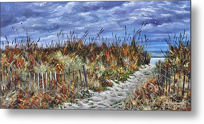 Pathway To North Myrtle Beach Metal Print by Craig T Burgwardt