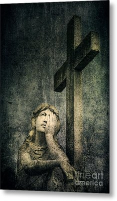 Patience In Pain Metal Print by Andrew Paranavitana