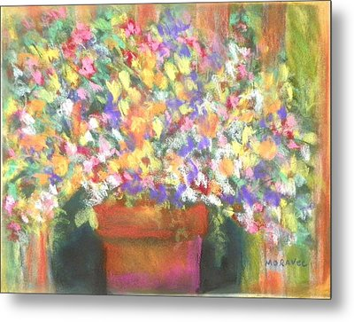 patio plants I Metal Print by Shirley Moravec