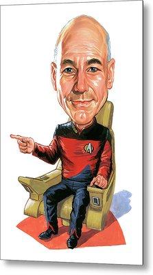 Patrick Stewart As Jean-luc Picard Metal Print by Art