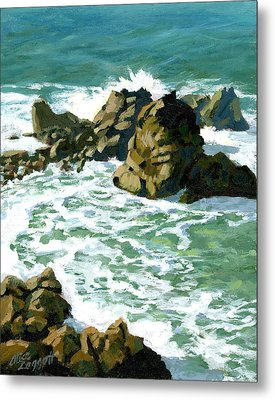 Patricks Point Rocks Metal Print by Alice Leggett